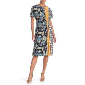 London Times Colorblock Kimono Sleeve Dress 1X